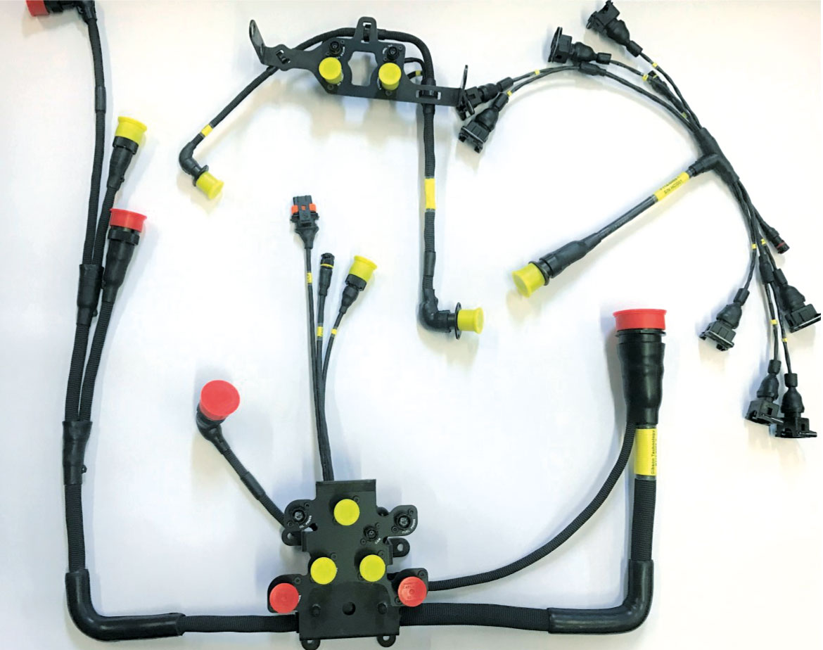 Gibson Technology GK428 engine wiring harness designed and supplied by HCI Systems